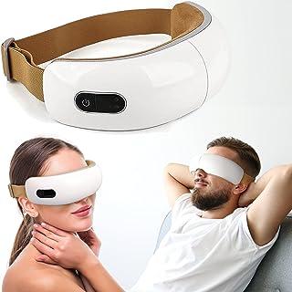 ماساژور چشم Vulness | ماسک چشم برقی ماساژ با عملکرد ماساژ فشرده سازی حرارت و ویبره | شامل اتصال موسیقی بی سیم | چشم های خسته سردردهای استرس و موارد دیگر را تسکین می دهد
