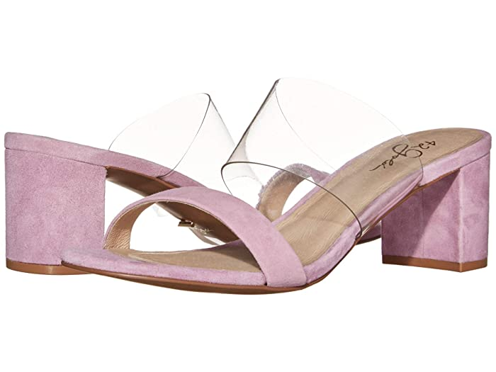 42 GOLD  Liya (Clear/Orchid Suede) Womens Sandals