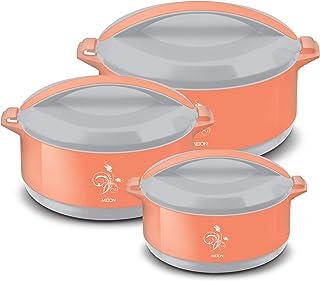 Milton Divine Jr Inner Steel Casserole Gift Set of 3, (430 ml, 830 ml, 1400 ml) Orange