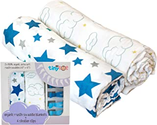 Muslin Swaddle Blanket Baby Blanket (2-Pack) – Non-GMO...