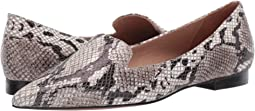 White/Black/Taupe Python Print Leather