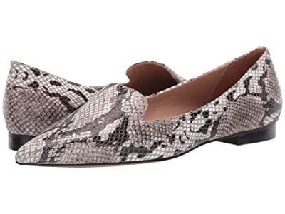LINEA Paolo Portia (White/Black/Taupe Python Print Leather) Women