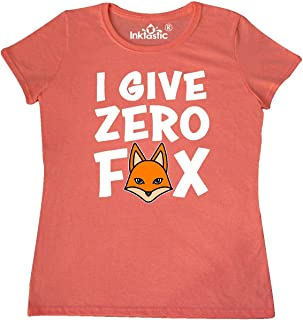 Adult Humor I Give Zero Fox with Fox Icon Replacing O Women's T-Shirt