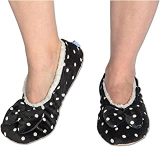 Womens Touch Me Ballerina Slippers with Comfort Fit Split Sole