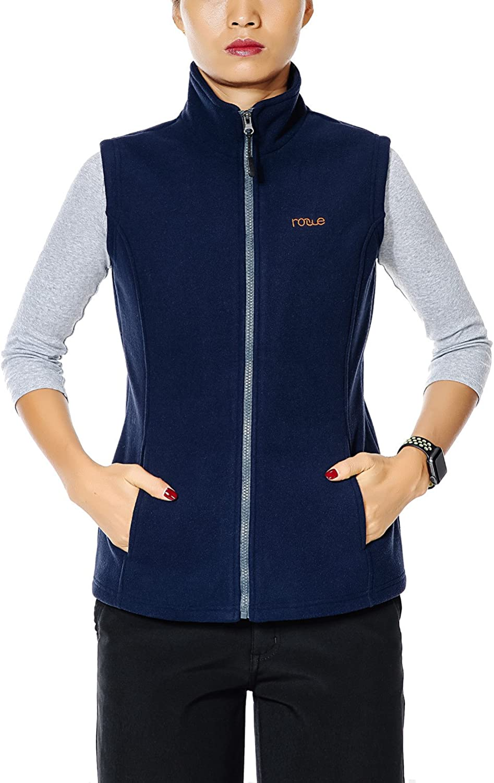 Nonwe Womens Fleece Vest Outdoor Mountain Front Zip