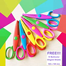 Asian Hobby Crafts 6 in 1 Zigzag Fancy Cuts Craft Scissors for DIY Crafts Project Making, Scrapbooking and Border Making