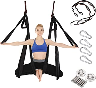 Arcfoxi Yoga Swing Set, Yoga Hammock, Antigravity Ceiling Hanging Yoga Sling, Inversion Swing with Two Extender Hanging Straps