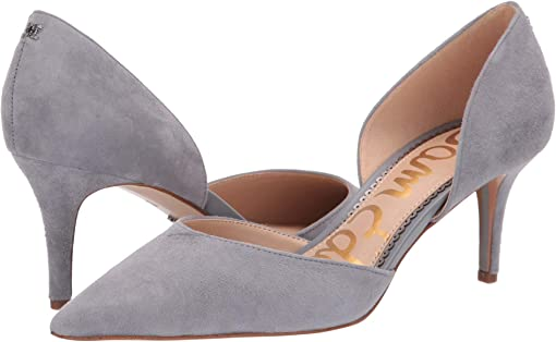 Grey Storm Suede Leather