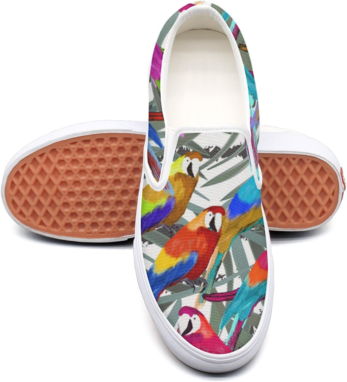 SEERTED colorful Rainbow Parreds School Sneakers for Girls