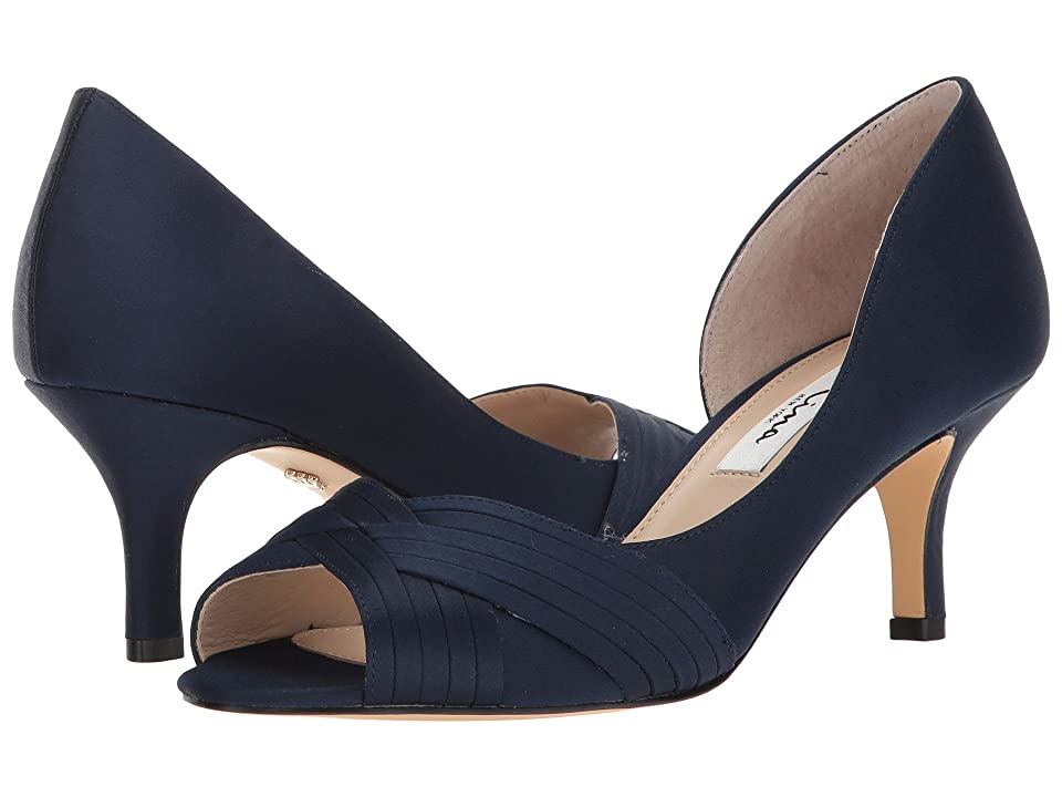Nina Contesa (New Navy Luster Satin) High Heels