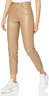 Only Onlemily HW St ANK Faux Leather Pnt Noos Pantaln para Mujer