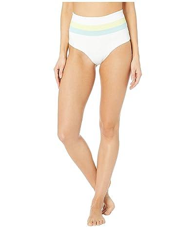 L*Space Color Block Portia Stripe Bottoms (White/Light Turquoise/Lemonade) Women