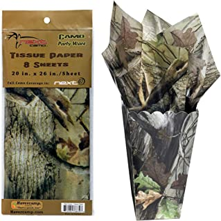 Camouflage Tissue Paper (8 Sheets, beautiful, detailed printing) Next Camo Party collection by Havercamp