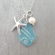 wrapped sea glass pendant
