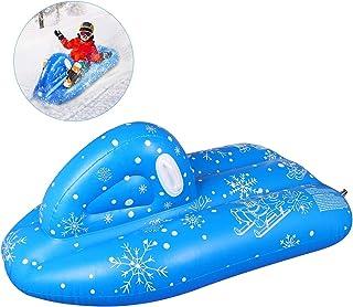 Luge Bouée Gonflable pour Les Enfants Adultes 120x68x50cm, Hiver en Plein Air Heavy Duty Gonflable Toboggan avec Poignées,...