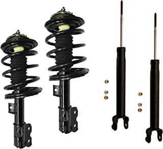 DTA 70024 Full Set 2 Front Complete Struts with Springs and Mounts + 2 Rear Shocks 4-pc Set Fit 2002-2006 Nissan Altima