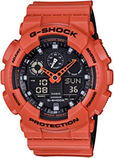 G-Shock GA-100 Military Series Watches - Orange/One Size