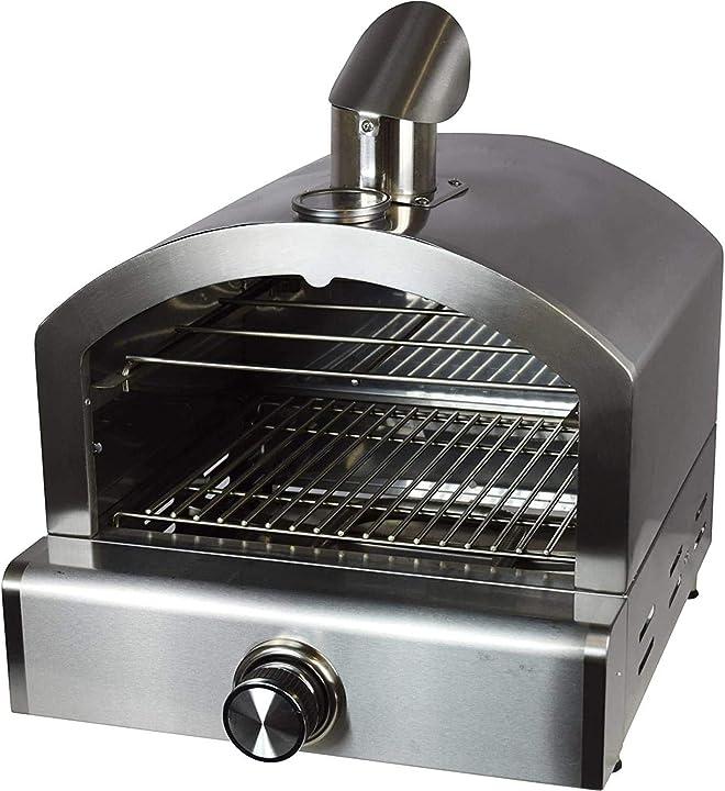 Forno per pizza con indicatore di temperatura per barbecue a carbonella e barbecue a gas, forno activa 12600