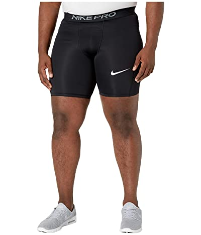 Nike Big Tall Pro Shorts (Black/White) Men