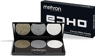 Mehron Makeup Echo Pressed Glitter Palette (Gold, Silver, Opalescent)