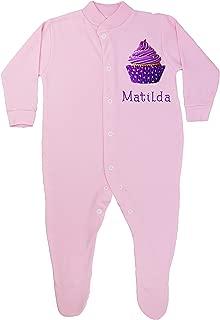 TeddyTs Personalised Robot Blue Baby Sleepsuit