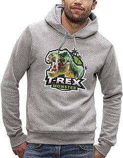 Bluza z kapturem DINOSAUR T-REX - PIXEL EVOLUTION - Mężczyzna