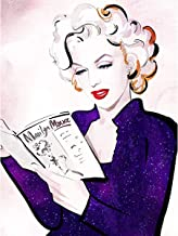 Leezeshaw 5D DIY Diamond Painting by Number Kits Fameless Rhinestone Embroidery Paintings Pictures for Home Decor - Marilyn Monroe 30x40cm