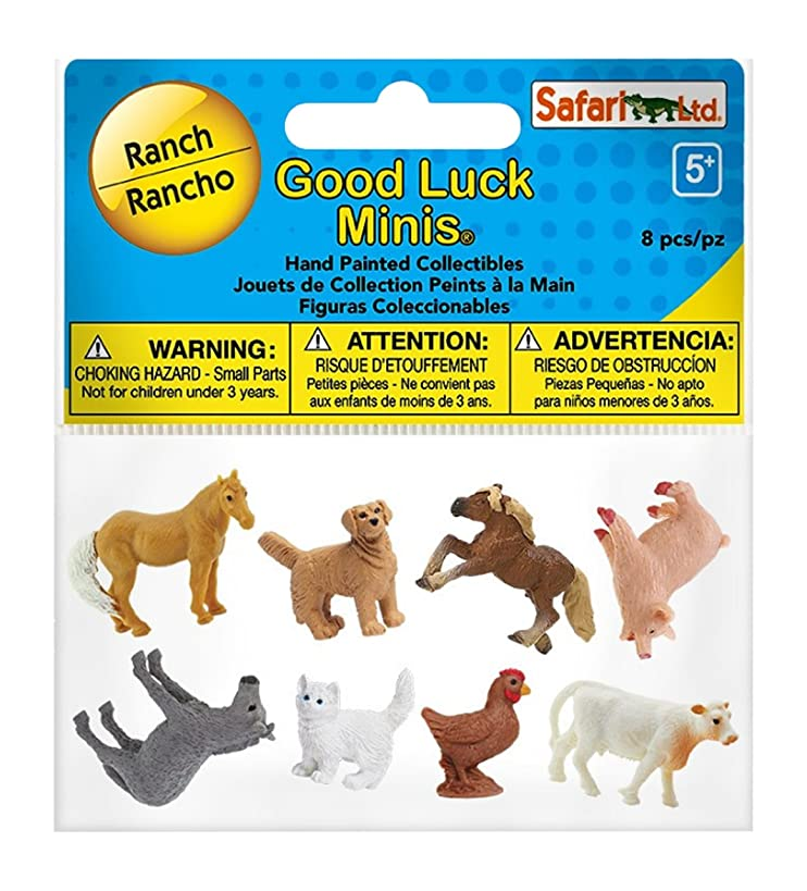 Safari Ltd. Good Luck Minis - Ranch Fun Pack - 8 Pieces - Quality Construction from Phthalate, Lead and BPA Free Materials - for Ages 5 and Up