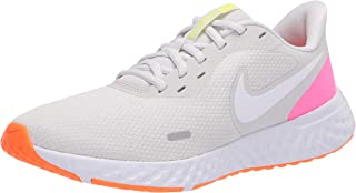 Nike Revolution 5, Women's Road Running Shoes, Multicolour (Platinum Tint/White-Pink Blast), 38 EU