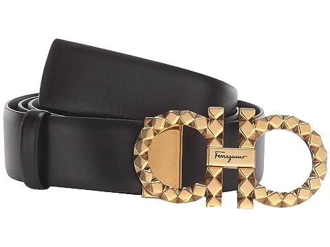 Salvatore Ferragamo New Gancini Faceted Adjustable Belt