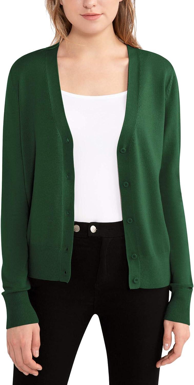 Woolen Bloom Cardigan for Women V Cardigans Daily bargain sale Gorgeous Sweater Neck Open Fr