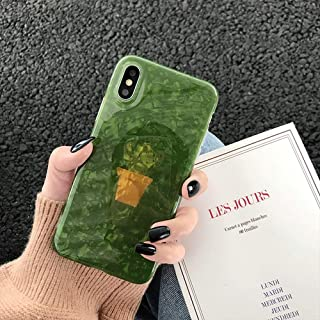 iPhone CASE-Cartoon Potted Cactus Mobile Shell Silicone Soft Case Drop-Proof Cover for iPhone Xs (Color : Green, Size : iPhone 7p/8p)