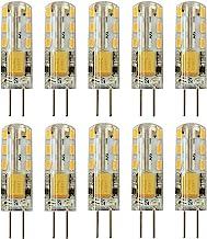 Rayhoo 10pcs G4 Base 24 LED Light Bulb Lamp 1.5 Watt AC/DC 12V 10-20V Non-dimmable Equivalent to 10W T3 Halogen Track Bulb...