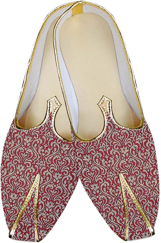 INMONARCH Mens Burgundy Wedding shoes Luxurious MJ015033