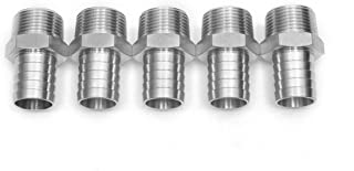 LTWFITTING Bar Production Stainless Steel 316 Barb Fitting Coupler/Connector 1