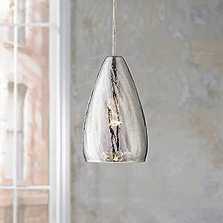 """Possini Euro Portico 5"""" Wide Crackle Glass Mini Pendant - Possini Euro Design"""