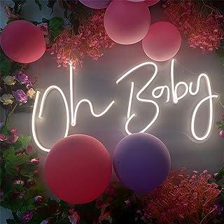 DYJD Oh bébé LED Neon Signe, décoration de Mariage, Signe de Signe au néon, décor néon, Signe Monogram, lumière néon, Sign...