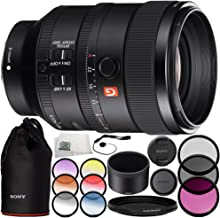 Sony FE 100mm f/2.8 STF GM OSS Lens 10PC Accessory Bundle – Includes Manufacturer Accessories + 3 Piece Filter Kit (UV + CPL + FLD) + More