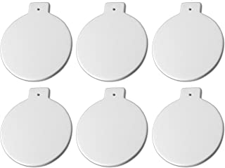 New Hampshire Craftworks Christmas Ball Ornaments - Set of 6 - Host Your Own Ceramic Painting Party