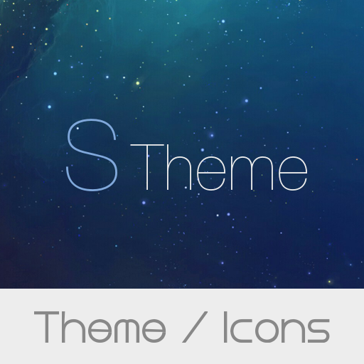 S Theme with package of icon for Xperia