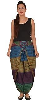 Women's Boho Wide Leg Dhoti Pants Multicolour