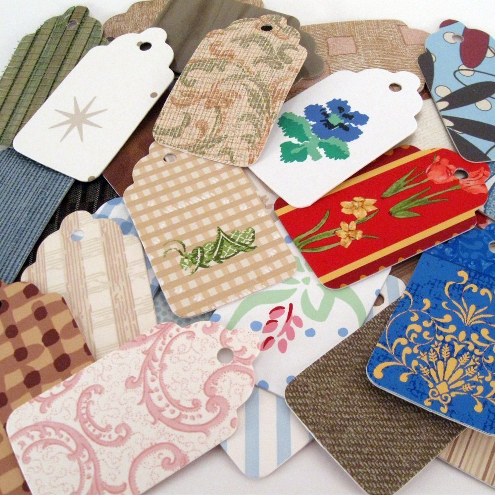 12 Year Round Gift Tags of Bombing new work Wall Recycled and Max 59% OFF Wallpaper Coverings