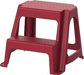 Cosmoplast Plastic Ladder Stool, Dark Red, IFHHXX316DR