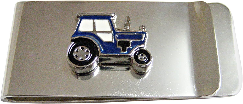 Blue Classic Farm Tractor Money Clip