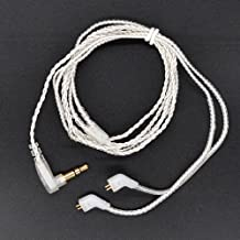 Fibest New KZ ZST/ZST Pro Dedicated Cable 0.75mm 2-Pin Upgraded Plated Silver Cable 2 PIN Upgrade Cable Ues For KZ ZST
