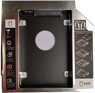 Barukra Unidad de disco duro SATA a SATA 3 2nd HDD 12.7 mm Universal Caddy CD/DVD-ROM Soporte de unidad óptica Bahía óptica