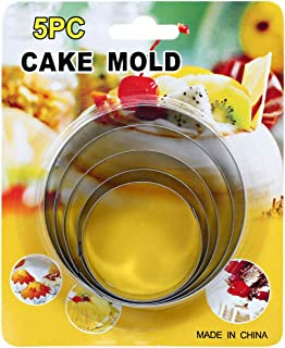 Stainless Steel Baking Cake Mold, BD-CAK-M - 5 Pieces