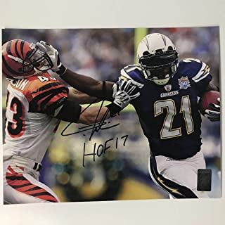 Autographed/Signed LaDainian Tomlinson HOF 17 San Diego Chargers 8x10 Football Photo GTSM COA Holo Only
