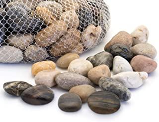 Royal Imports 5lb Large Decorative Polished Gravel River Pebbles Rocks for Fresh Water Fish Animal Plant Aquariums, Landsc...