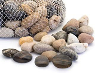 Royal Imports 5lb Large Decorative Polished Gravel River Pebbles Rocks for Fresh Water..